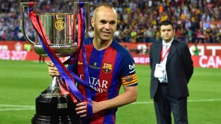 Andrés Iniesta Luján, 33 anni, centrocampista spagnolo del Barcellona. Afp