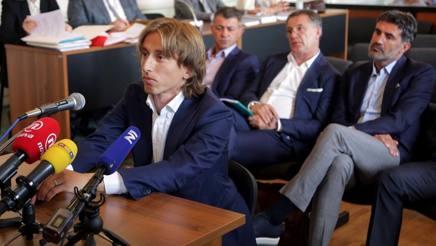Luka Modric in tribunale. Afp