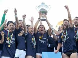 La festa del Parma dopo la promozione. LaPresse