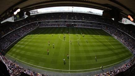 Il campo di Wembley durante Tottenham-Manchester United. Getty Images