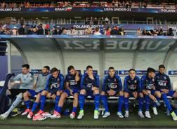 La panchina dell'Italia Under 21 contro la Danimarca: oggi con la Repubblica Ceca dovrebbero esserci delle novità di formazione. Getty Images