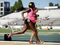 Alysia Montano, 31 anni, in corsa nel 2014 quando era ancora in dolce attesa AP