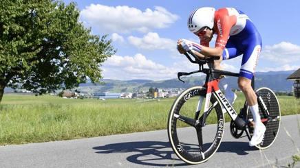 Tom Dumolin, 26 anni, si è confermato campione olandese della cronometro. AP