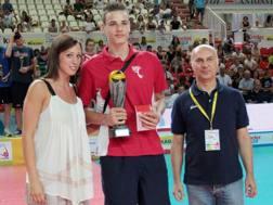 Simone Giannelli premiato come Mvp del torneo nel 2012
