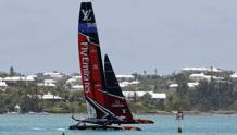 Team New Zealand si allena a Bermuda, Great Sound