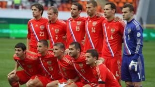 Una selezione della Russia nelle qualificazioni per il l Mondiale 2014. Epa