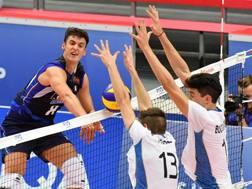 Paolo Zonca in azione nel match perso dall'Italia contro l'Argentina FIVB.COM