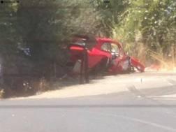 L'auto dell'incidente. Foto tratta da Belice.it