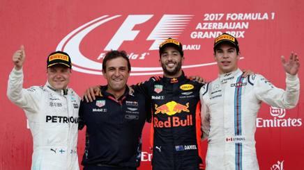 I protagonisti del podio del GP di Azerbaigian. Getty