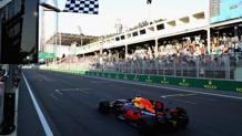 La gioia di Daniel Ricciardo. Afp