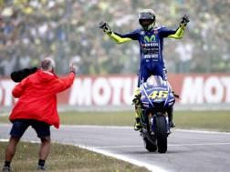 Valentino Rossi e Andrea Dovizioso. Ap