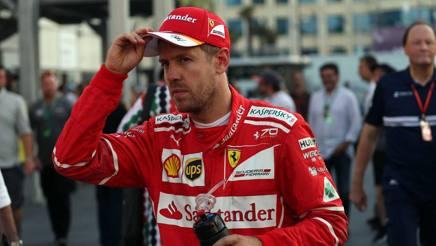 Sebastian Vettel scuro dopo il GP. Lapresse