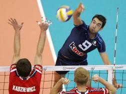 Cristian Savani, 35 anni, in azione con la maglia dell'Italia ANSA