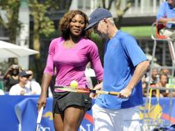 John McEnroe con Serena Williams AFP