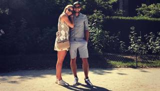 Mikaela Shiffrin e Mathieu Faivre:; questa la foto postata su Instagram