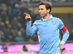 Lucas Biglia, 31 anni, centrocampista della Lazio. Ansa