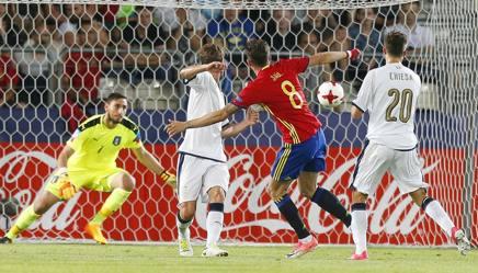 Saul, 22 anni, centrocampista dell'Atletico Madrid. LaPresse