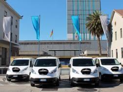 La flotta Nissan in servizio all'acciaieria di Terni