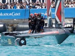 Team New Zealand festeggia il trionfo del 2017 alle Bermuda. Reuters