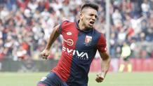 Giovanni Simeone, 21 anni, 12 gol nell'ultimo campionato con il Genoa. Lapresse