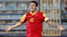 Stevan Jovetić, 27 anni, con la maglia del Montenegro. Reuters
