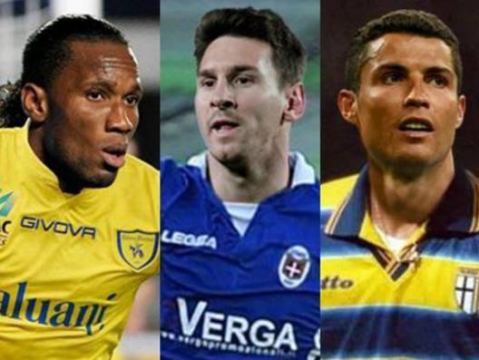 Diedier Drogba, Lionel Messi e Cristiano Ronaldo