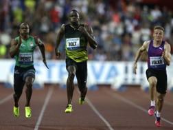 L'arrivo di Usain Bolt a Ostrava. Reuters