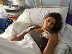 La foto pubblicata su Instagram da Nadia Fanchini dopo l'operazione