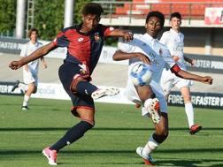 Eddy Anthony Salcedo Mora, classe 2001, nella semifinale scudetto Under 16 contro il Milan. Getty Images