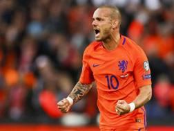 Wesley Sneijder, 33 anni, centrocampista olandese ex Inter. Afp
