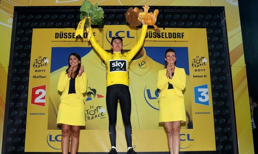 A Thomas la prima gialla Froome vola, Trentin quinto Valverde cade: Tour finito