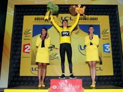 Geraint Thomas, 31 anni, ha vinto la crono di Dusseldorf ed è la prima maglia gialla. Getty Images