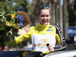 Anna Van der Breggen, nuova leader del Giro Rosa. Afp
