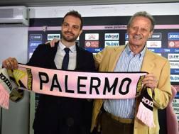 Paul Baccaglini con Maurizio Zamparini. Getty Images