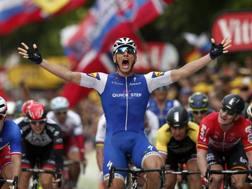 Il tedesco Marcel Kittel, ha vinto la seconda tappa del Tour de France. Ap