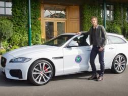 Andy Murray e la Jaguar XF Sportbrake