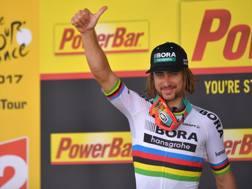 L'iridato Peter Sagan, vincitore ieri. Bettini