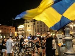 Tifosi del Parma in giro per il centro a festeggiare la neo promozione in serie B. LaPresse