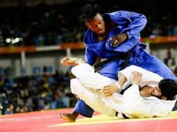 Popole Misenga in azione a Rio con l'indiano Avtar Singh nei 90 kg. Ap