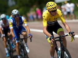 Chris Froome, attuale maglia gialla. Getty Images