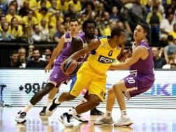 Andrew Goudelock, 28 anni, ex seconda scelta dei Lakers, in azione nell'ultima Eurolega col Maccabi Tel Aviv EUROLEAGUE