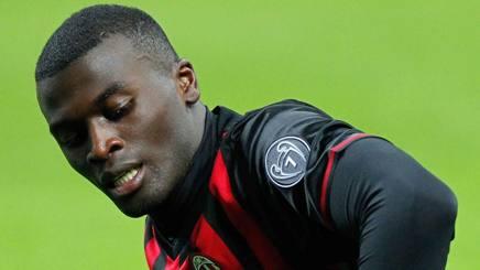 M'Baye Babacar Niang , 22 anni, attaccante francese del Milan. LaPresse