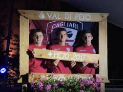 Rafael, Andreolli e Deiola in piazza a Peio.