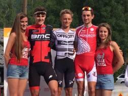 Matteo Fabbro, 22 anni, sul podio del Giro della Valle d'Aosta