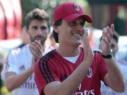 Vincenzo Montella, tecnico rossonero. Getty Images