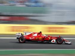 Vettel ha provato lo Shield protettivo nelle libere uno. Getty