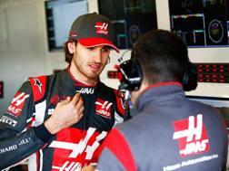 Antonio Giovinazzi in tuta Haas a Silverstone