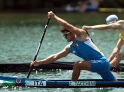 Carlo Tacchini in azione nella canadese a Rio 2016 IPP