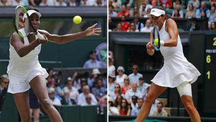 Venus Williams e Garbine Muguruza. Afp