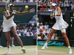Venus Williams e Garbine Muguruza. Afp